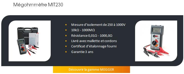 MEGOHMMETRE MEGGER MIT230
