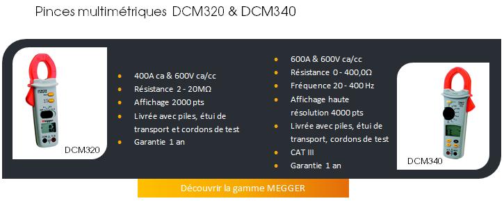 PINCES MULTIMETRIQUES MEGGER DCM320 & DCM340